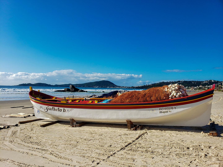canoa pesca da tainha bombinhas